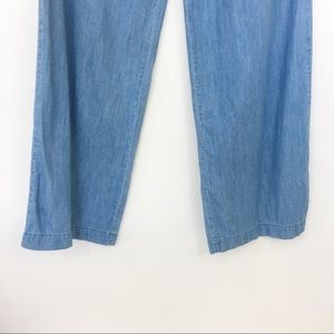 Forever 21 Pants - forever 21 | chambray wide flare leg trousers 26